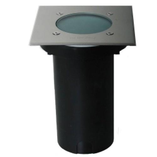 KS Verlichting 7060 Grondspot vierkant RVS GU10 - Goedkoper Met LED