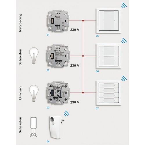 6711u busch jaeger universele relaissokkel zigbee light. Black Bedroom Furniture Sets. Home Design Ideas
