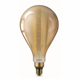 Philips 76806800 Vintage LED Filament Giants A160 5-25W E27 Gold Flame