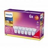 Philips 72167400 LED 3,8-50W GU10 Warmglow 36° Ra90 Multipack 6 stuks