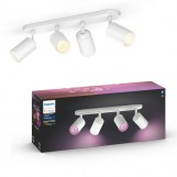 Philips 50634/31/P7 Hue Fugato 4-lichts spotbalk White and Color Ambiance Wit