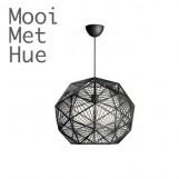 Mooi met Hue Philips Mohair Zwart Hanglamp Inclusief Hue Bulb