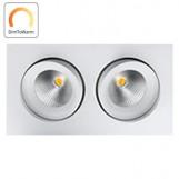 SG 901261 DimToWarm Gyro Square IsoSafe Mat wit 2x 6W LED 2000K-2800K 42° Ra95